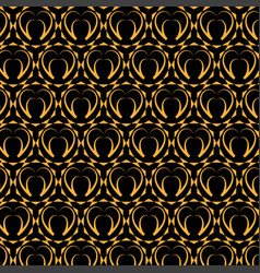 geometric and hearts pattern vector image vector image