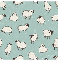 Herd of sheep seamless pattern vector