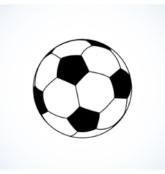Icon of soccer ball vector image