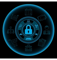 Information Security Concept vector image vector image