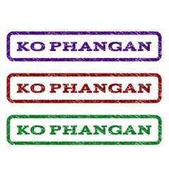 Ko phangan watermark stamp vector