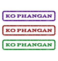ko phangan watermark stamp vector image