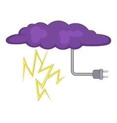 Lightning icon cartoon style vector