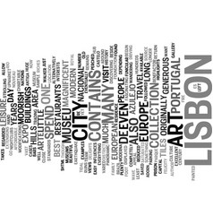 Lisbon the forgotten gem of europe text vector