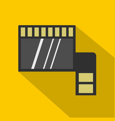 Memory card icon flat style vector