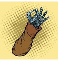 Okay hand gesture robot vector