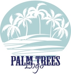 Palm trees on the Beach Logo Silhouette - vector image vector image