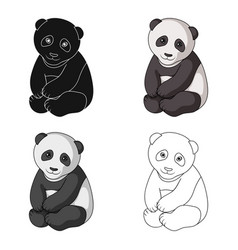 pandaanimals single icon in cartoon style vector image vector image