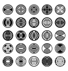 Patterns in circle shape vector