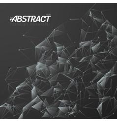 Plexus style fractal polygonal template vector