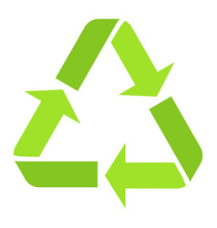 Recycle symbol flat icon eco and delivery vector