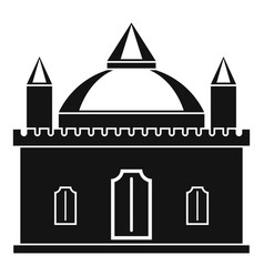 Royal castle icon simple style vector