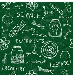Scientific school board seamless pattern vector image vector image