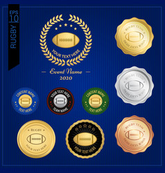 set of american football or rugby badge label vector image vector image
