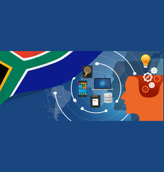 South africa it information technology digital vector