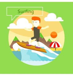 Surfing concept vector
