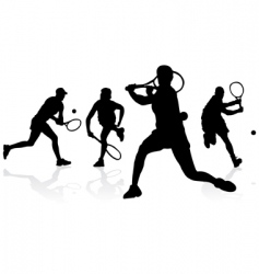 tennis silhouettes vector image