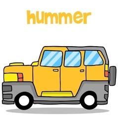 Transportation of hummer cartoon design vector