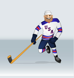 usa ice hockey team player vector image