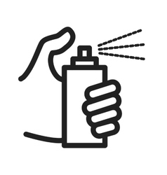 Holding spray bottle vector