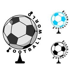 football World Globe Soccer ball game Sports vector image