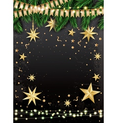 Empty christmas greeting card vector