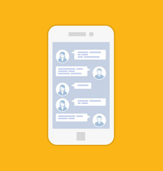 Smartphone chat interface - short sms message se vector