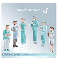 Cartoon doctors set vector