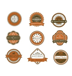 Bio and organic labels vector image