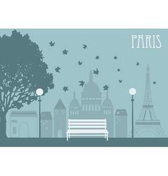 Park in Paris vector image