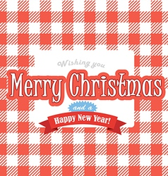 Christmas greeting red card vector