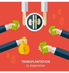 Transplantation buying agencies infographic vector