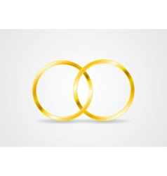 Golden rings vector