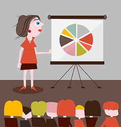 Businesswoman presentation vector