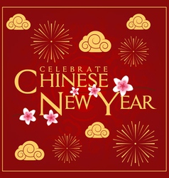 Celebrate chinese new year card minimal design vector