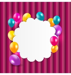 Colored balloons background vector