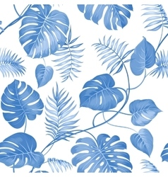 Topical palm leaves vector