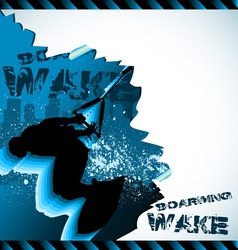 wakeboarder vector composition vector image