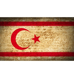 Flags turkish northern cyprus with dirty paper vector