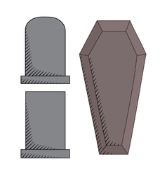 Graveyard icons set vector