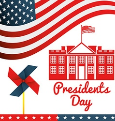 Presidents day design vector