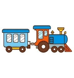 Train isolated on white background vector
