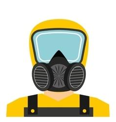 Worker man uniform security icon vector
