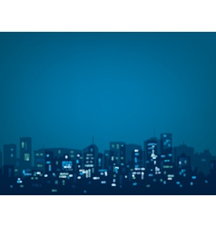 Blue night city vector