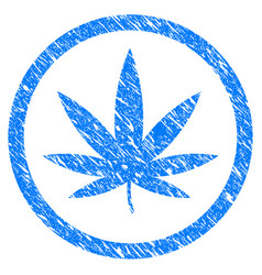 cannabis grunge icon vector image