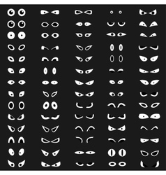 Cartoon eyes collection vector