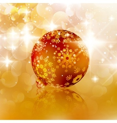Christmas ball on abstract light background vector image vector image