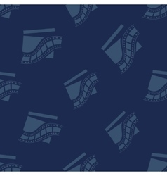 Cinema pattern with clapperboard icons vector