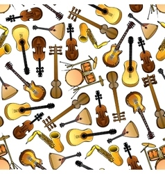 Classic ethnic music instruments seamless pattern vector image vector image