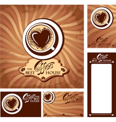 coffee heart menu 380 vector image vector image